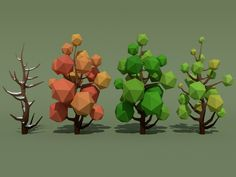 Buy 140 Low Poly Trees + 21 Bonus Items by Ada_King on This pack contains: 30 Trees * 4 Seasons = 120 Trees 10 Fir-Trees * 2 Seasons = 20 Fir-Trees 21 Bonus Items: Logs . 3d Landscape, Landscape Artwork, Game Character Design, Character Art, Voxel Games, Low Poly Games, 2d Game Art, Polygon Art, Cute Art Styles