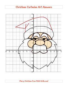 Christmas Math Worksheet  CoOrdinate Geometry Activity  Mrs