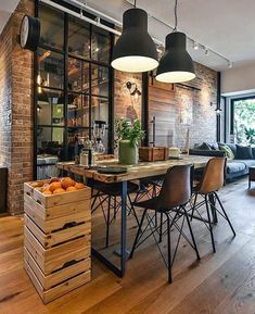29 Awesome Industrial Style Decor Designs That You Can Create For Your Urban Living Space Apartment Industrial Design No. 29 Awesome Industrial Style Decor Designs That You Can Create For Your Urban Living Space Apartment Industrial Design No. Loft Industrial, Industrial Interior Design, Vintage Industrial Decor, Industrial Interiors, Interior Design Kitchen, Industrial Furniture, Industrial Bedroom, Kitchen Industrial, Vintage Decor