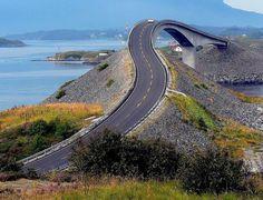 Ponte Ubriaco [or drunk bridge], Atlantic Road, Norway! By Giorgio Ghezzi. Beautiful Roads, Beautiful World, Beautiful Places, Oslo, Atlantic Road Norway, Atlantic Ocean, Places To Travel, Places To See, Dangerous Roads