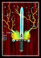 Ace of swords (red version) by CHRIZZTOPHER-TOBEY