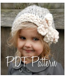 Knitting PATTERNThe Vivian Slouchy Toddler Child by Thevelvetacorn