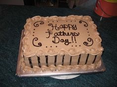 Father Day Cakes Sheets Cakes | fathers day cake dark chocolate sour cream cake with a decadent ...