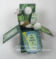 Golf Fanatic Pop-Up Box Card by AngelCarol - Cards and Paper Crafts at Splitcoaststampers