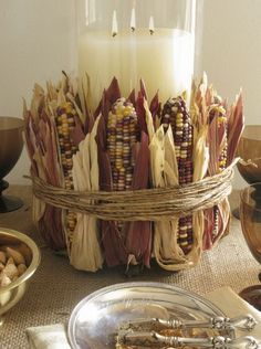 Fall in Love Friday: Decorating with Corn Husks