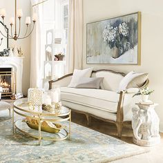 Shop furniture trends & decor at Ballard Designs and style your home to perfection. Cream And Gold Living Room, Dark Blue Living Room, Classic Living Room, My Living Room, Living Room Decor, Global Decor, White Dining Room Chairs, Ballard Designs, Stool