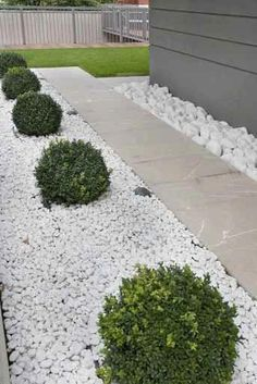 Stone Landscaping Ideas for Front Yard . Stone Landscaping Ideas for Front Yard . Stone Landscaping, Small Backyard Landscaping, Landscaping With Rocks, Landscaping Ideas, Mulch Ideas, White Landscaping Rock, Backyard Ideas, Front House Landscaping, Modern Backyard