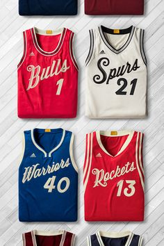 PHOTO: NBA unveils Christmas Day jerseys, NFL doesn't defer from uniform except adding pink during breast cancer awareness month. Basketball Jersey Outfit, Vintage Basketball Jerseys, Basketball Design, Vintage Jerseys, Basketball Legends, Basketball Clipart, Nba Uniforms, Sports Uniforms, Basketball Uniforms