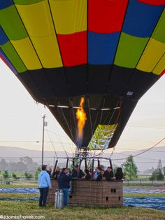 Ballooning over Napa Valley is amazing!  Have you ever been on a hot air balloon?  I've gone twice!