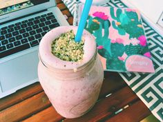 Labor Day Weekend & Stuff | Simply Taralynn | 1 tablespoon hemp seeds, 1 scoop Vanilla Protein Powder , 1 cup frozen raspberries, peaches and pineapples, 1 cup unsweetened cashew milk, 1 cup ice, 1 packet stevia stevia and 1/4 cup water.