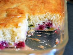 Raspberry Kiwi Coffee Cake - very simple, no fancy ingredients - looks quick to throw together :)