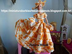 Vestido dA Bela e a Fera em Crochê Para Bonecas com Passo a Passo de Pecunia MillioM 2