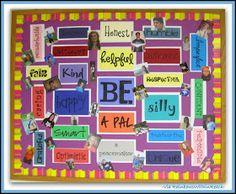 photo of: Bulletin Board for Character Development via RainbowsWithinReach