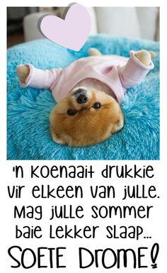 Good Night Sleep Tight, Goeie Nag, Good Night Quotes, Afrikaans