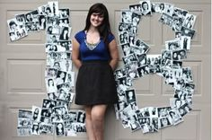 """birthday party idea - """"18""""!made of pictures of your childhood…I'm gonna do this for my 21st!                                                                                                                                                      More"""