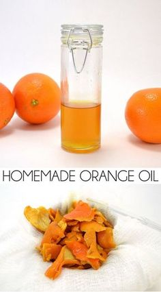 Orange Oil Why spend good money on something you can make at home? Gather those orange peels and make homemade orange oil and save!Why spend good money on something you can make at home? Gather those orange peels and make homemade orange oil and save! Making Essential Oils, Essential Oil Blends, Homemade Essential Oils, Orange Essential Oil, How To Make Oil, Citrus Oil, Lemon Oil, Infused Oils, Cleaners Homemade
