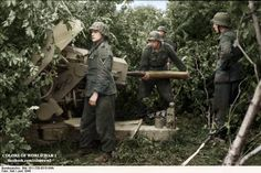 Pak43 crew in action not much after the D-Day landings in Normandy