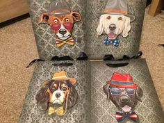 4x Luxury  3D Gift Present Bag - Glitter Finish / Quirky / Dog Lovers