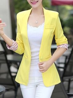 Stylish Job Work Outfit Ideas to Look Attractive Blazer Outfits For Women, Casual Blazer Women, Blazers For Women, Jackets For Women, Clothes For Women, Blazer Fashion, Fashion Outfits, Womens Fashion, Fashion Clothes