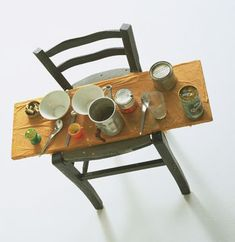 Daniel SPOERRI 'kichka's breakfast' by daniel spoerri, 1960