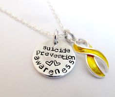 Suicide Prevention Awareness Necklace  by EverythingPrettyShop, $25.00