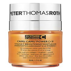 I haven't tried this yet but looks good. Camu Camu Power C X 30™ Vitamin C Brightening Moisturizer - Peter Thomas Roth   Sephora
