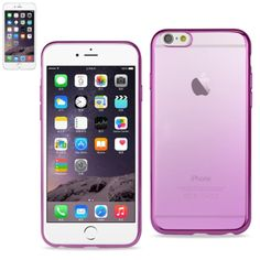 Reiko Iphone6-6S Plus 5.5 Inches Frame Gradient Clear Glitter Case With Shiny Bumper-Purple