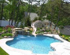 We will install slides, waterfalls, hot tubs, you name it!