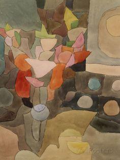 Gladiolus Stillleben by Paul Klee (more of the artist's work is on my board 'Paul Klee ~ art of flowers, plants and gardens') Bauhaus, Paul Klee Art, Wall Art Prints, Fine Art Prints, Canvas Prints, Guache, Art Abstrait, Wassily Kandinsky, Michelangelo