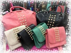 Loving the studded bag trend for spring! #studs #fashion