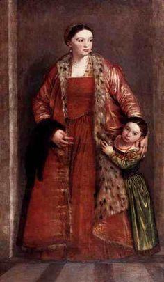 Ливия да Порто Тьене и её дочь Порция. 1551-52