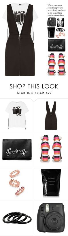 """""""ART ~107"""" by courageousmind ❤ liked on Polyvore featuring R13, Maje, Monki, Miss KG, Tory Burch, Cleanse by Lauren Napier, Furla and Fujifilm"""