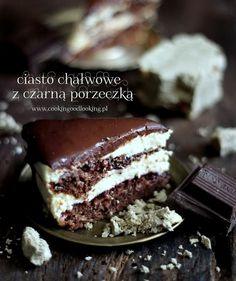 Ciasto chałwowe z czarną porzeczką/Halva and blackberry cake - Biszkopty
