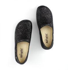 Alegria Shoes - Keli Black Embossed Paisley Professional Nursing Shoe f02971f227d