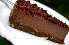 The Best-Ever Chocoholics Cheesecake - Mouthwatering Vegan Recipes™ « Mouthwatering Vegan Recipes™