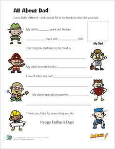 LeapFrog printable: All About Dad
