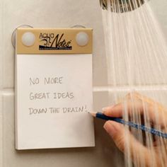 To not lose those ideas we all have in the shower but then forget. * OR a great place to leave a roommate a note they cant miss?