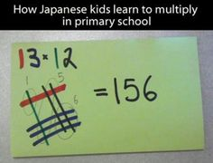 A new way to learn multiplication? Saw it on Facebook - not sure if it works for every number.