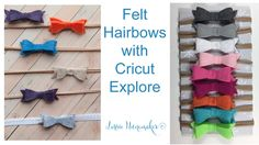 Felt Hair Bows with Cricut Explore - YouTube