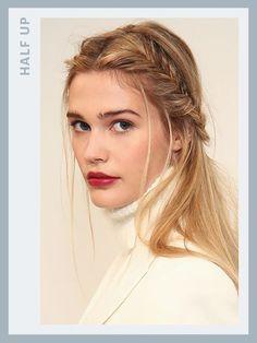 Prom hairstyles: Half-up fishtail braid - Rachel Zoe 2016 | allure.com