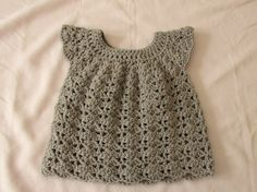 How to crochet an easy shell stitch baby. girl's dress for beginners