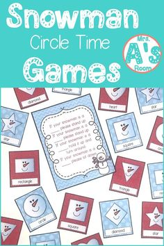 These ideas for snowman circle time games are a great way to get your kiddos learning and having fun all at the same time! These 9 activities are ready to print and use, and your preschool and kindergarten kiddos will love them! Preschool Christmas Activities, Snow Activities, Winter Activities For Kids, Kindergarten Activities, Preschool Activities, Preschool Winter, Preschool Birthday, Weather Activities, Circle Time Games