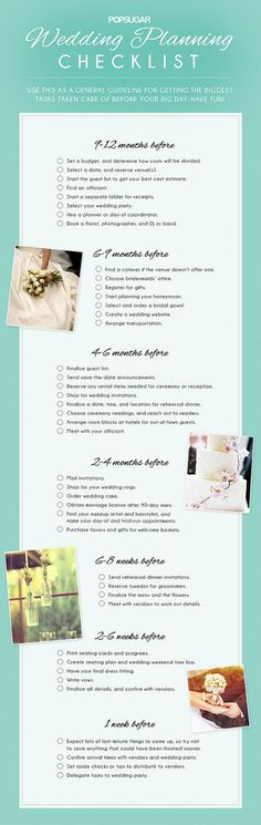 Download the Ultimate Wedding Planning Checklist! - Wedding Planning Checklist | POPSUGAR Smart Living