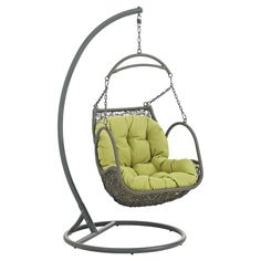 Arbor Outdoor Patio Wood Swing Chair Actualize your inner ambitions with the Arbor Swing Chair. Made with an exotic outdoor recreation themed design, Arbor c. Wicker Swing, Wood Swing, Wicker Chairs, Patio Chairs, Rattan, Beach Chairs, Office Chairs, Adirondack Chairs, Chair Cushions
