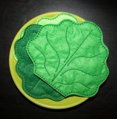 SALE PRICE     Lettuce Leaf Felt Play food  Embroidery Machine Design for the 5x7 hoop