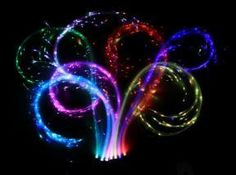 rechargeable 27 color mode fiber optic whips.