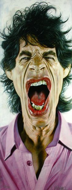 A visual transformation of the Rolling Stones in humorous caricatures RePinned by : www.powercouplelife.com