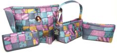 Harveys Nightmare Before Christmas Sally Print. Inspired by Sally's patchwork dress.  @ #seatbeltbags, I'm a kid at heart!