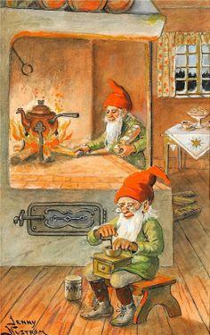 Gnome-Nisse. Swedish artist Jenny Nystrom (1854-1946) - ГНОМИКИ-НИССЕ.. Обсуждение на LiveInternet - Российский Сервис Онлайн-Дневников