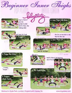 Want slimmer inner thighs? Do these Pilates moves! Body Fitness, Fitness Diet, Health Fitness, Workout Fitness, Boxing Workout, Zumba, Forma Fitness, Pop Pilates, Blogilates